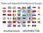 a set of european flag icons on ... | Shutterstock .eps vector #1835482738