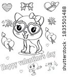 coloring book page for... | Shutterstock .eps vector #1835501488