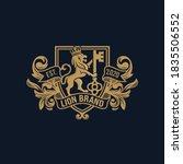 luxury golden royal lion king... | Shutterstock .eps vector #1835506552