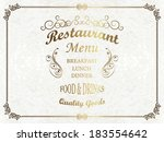 vintage restaurant background | Shutterstock .eps vector #183554642