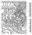 fab boo lous.halloween coloring ...   Shutterstock .eps vector #1835547625
