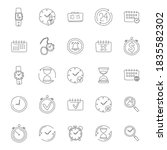 time hand drawn linear doodles... | Shutterstock .eps vector #1835582302
