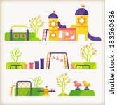 vector of playground | Shutterstock .eps vector #183560636