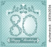80,80th,anniversary,background,birth,birthday,card,cartoon,celebrate,celebration,children,color,colorful,date,day