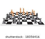 vector chess board and figures  ... | Shutterstock .eps vector #18356416