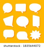 white blank speech bubbles...   Shutterstock .eps vector #1835644072
