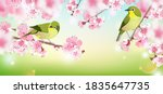 japanese nightingale on a... | Shutterstock .eps vector #1835647735