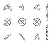 modern vaccination icon set  ... | Shutterstock .eps vector #1835704462