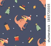 holiday seamless pattern with... | Shutterstock .eps vector #1835720335
