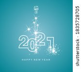 happy new year 2021 greetings... | Shutterstock .eps vector #1835728705