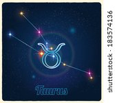 vector constellation taurus... | Shutterstock .eps vector #183574136