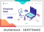 landing page template with... | Shutterstock .eps vector #1835756602
