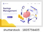 landing page template with...   Shutterstock .eps vector #1835756605