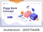 landing page template with...   Shutterstock .eps vector #1835756608
