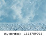 Small photo of Vortex of snow during a blizzard in the region of the far North. The theme of natural disasters and the harsh polar climate. Background, image for the weather forecast.