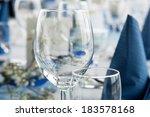 table set for dinner party in... | Shutterstock . vector #183578168
