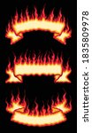 fire flame scroll banners is an ... | Shutterstock .eps vector #1835809978