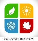four season concept vector icon | Shutterstock .eps vector #1835810395