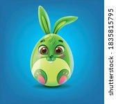 easter egg shaped bunny... | Shutterstock .eps vector #1835815795