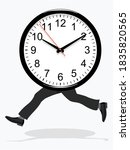 race against time on a white...   Shutterstock .eps vector #1835820565