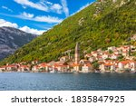 Perast Old Town View  The Bay...