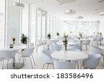 interior of summer restaurant  | Shutterstock . vector #183586496