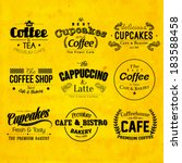 retro typography coffee and... | Shutterstock .eps vector #183588458