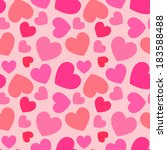 pink heart seamless pattern | Shutterstock .eps vector #183588488