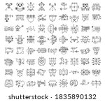 collection of demon symbols and ...   Shutterstock .eps vector #1835890132