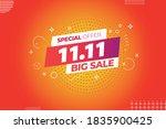11.11 mega sale singles daysale ... | Shutterstock .eps vector #1835900425