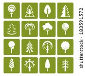 green tree icon. vector.  eps... | Shutterstock .eps vector #183591572