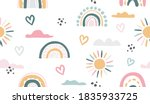 seamless vector pattern with... | Shutterstock .eps vector #1835933725