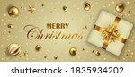 golden christmas banner with... | Shutterstock .eps vector #1835934202