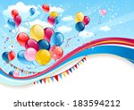 holiday background with... | Shutterstock .eps vector #183594212