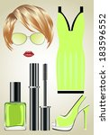 fashion set from a female ...   Shutterstock . vector #183596552
