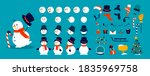 snowman animation kit.... | Shutterstock .eps vector #1835969758