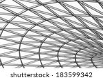 glass roof in black and white | Shutterstock . vector #183599342