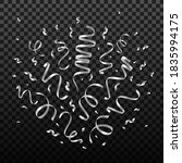 falling shiny silver confetti...   Shutterstock .eps vector #1835994175