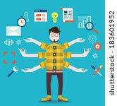 development and internet... | Shutterstock .eps vector #183601952
