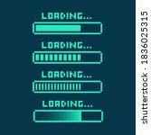 pixel art 8 bit cyber... | Shutterstock .eps vector #1836025315