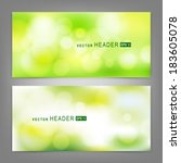set of vector banners with... | Shutterstock .eps vector #183605078