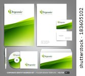 corporate identity template for ... | Shutterstock .eps vector #183605102