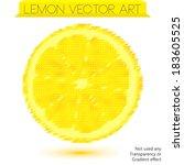 vector lemon illustration with...   Shutterstock .eps vector #183605525
