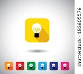 flat design graphic icon  ... | Shutterstock . vector #183605576