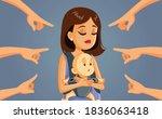 mom shaming concept vector... | Shutterstock .eps vector #1836063418