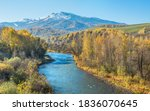 river  forested banks and a... | Shutterstock . vector #1836070645