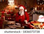 Happy Old Bearded Santa Claus...