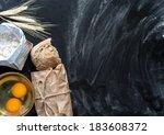 baking fresh bread background... | Shutterstock . vector #183608372