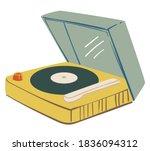 playing vinyl plate  recording...   Shutterstock .eps vector #1836094312