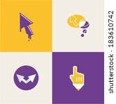 cursor icons | Shutterstock .eps vector #183610742